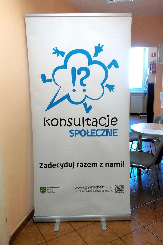 Projekt i realizacja Roll up dla Konsultacji Społecznych Gminy Chełmża