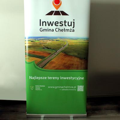 Projekt i realizacja Roll up dla Inwestuj Gmina Chełmża