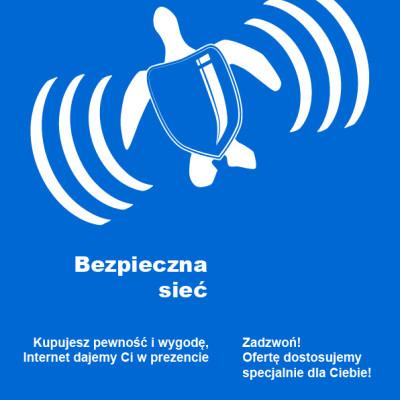 Plakat promujący firmę DBS Internet
