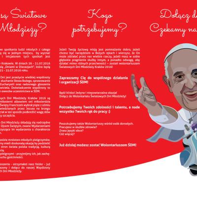 2 str. Ulotka A4 w DL w C dla Parafii pw. Trójcy Świętej w Chełmży