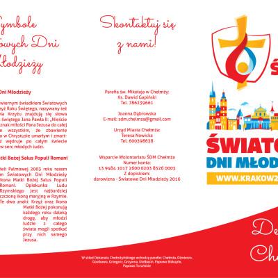 1 str. Ulotka A4 w DL w C dla Parafii pw. Trójcy Świętej w Chełmży